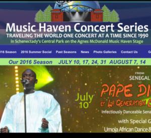 La compagny Américaine New African Production présente le chanteur Pape Diouf aux festivals Music Haven Concert Series