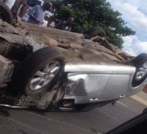 Accident spectaculaire sur l'autoroute à péage, axe Pikine- Thiaroye