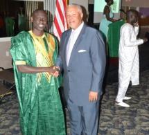 Pape Diouf reçu par le Senator de Pensylvania Anthony Williams aux Etats Unis.