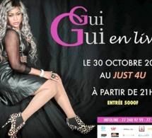 Guigui en live pour la premiere fois au Just 4 U ce 30 octobre.