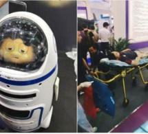 Chine : un robot domestique blesse un homme lors d'un salon Hi-tech