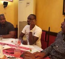 Voyage d'affaires en Guinée, le chanteur Pape Diouf à la rencontre du puissant homme d'affaires Mohamed Sylla de la Guinée avec son fidéle et loyale ami Marcel Djilass et Moustapha Diop.
