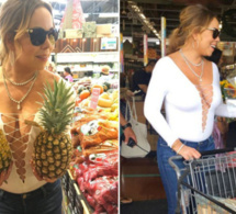 Mariah Carey : tous seins dehors, elle va au marché et c'est n'importe quoi