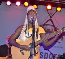 Gorée diaspora festival, l'artiste Maréma Fall met le feu sur scène.