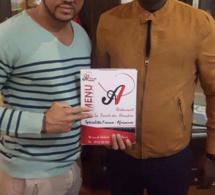 Malick Gackou du Grand Parti en compagnie de Dj Rakhou du restaurant Pointe des Almadies de Paris