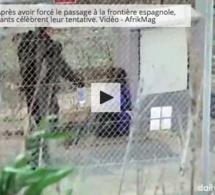 Vidéos-Maroc: Après avoir forcé le passage à la frontière espagnole, les migrants célèbrent leur tentative
