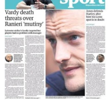 Le footballeur Jamie Vardy menacé de mort: en voici les raisons