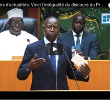 Le Premier ministre Mahammed Boun Abdallah DIONNE et son gouvernement à l'Assemblée Nationale ce jeudi