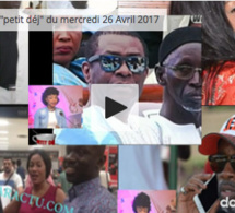 "Vidéo: Infos people Walf ""petit déj"" du mercredi 26 Avril 2017"