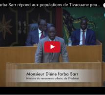 Diéne Farba Sarr, ministre du Renouveau Urbain répond aux populations de Tivaouane peulh dont les maisons ont été démolies