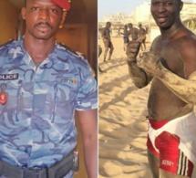 Vidéo : Le policier Pathé Boye décroche son premier combat de lutte avec frappe.