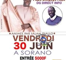 """""""SARGAL"""" Pape Diogaye Faye avec Bamba Faye de la MGC le 30 juin à SORANO avec Salam Diallo."""