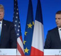 Trump et Macron face à la presse à l'Elysée