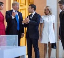 """Quand Trump fait remarquer à Brigitte Macron, qu'elle est en """"bonne forme physique"""""""