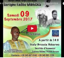 Vidéo Journées culturelles : Serigne Fallou Mbacke fêté le 09 septembre à Vobarno (Italie)