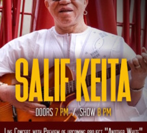 S.O.B.'s in collaboration with New African Production presents Malian legend Salif Keita Thursday, September 14, 2017 at S.O.B.'s.  Doors Open 7PM / Show 8 PM