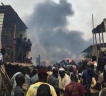 """Lendemain de l'incendie à """"Pakk Lambaye"""" : Les propriétaire des étals refusent de déguerpir"""