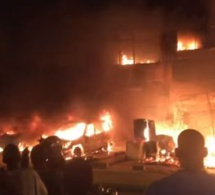Urgent – Grand Yoff: un immeuble prend feu près d'un dépôt de gaz