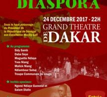 NUIT DE LA DIASPORA, avec l'association Chapacholy au Grand theatre ce 24 Décembre.