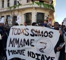 """Bougane Gueye """"Gueum Sa Bopp"""" a pris part  à la marche des Sénégalais à Madrid."""