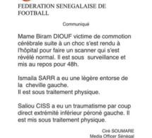 Mame Biram, Saliou Ciss et Ismaïla Sarr à l'infirmerie (Communiqué)