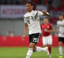 Le joueur allemand Leroy Sané réagit mieux que Rabiot à sa non sélection pour le Mondial 2018