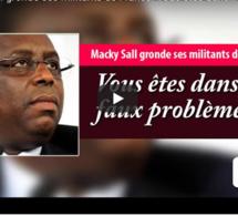 """Audio-Macky tance ses partisans: """" Vous êtes dans de faux problèmes..."""""""