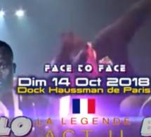 JOUR J - 09 : Toute la diaspora se mobilise pour la réussite du 13 octobre avec Pape Diouf à Bercy avec les deux Face to Face Balla Gaye 2 Modou Lo au Dock Haussman de Paris