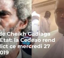 Plainte de Cheikh Gadiaga contre l'État: la Cedeao rend son verdict ce mercredi 27 février 2019