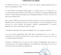 Le CMS dément la rumeur sur la fermeture de ses Caisses (Communiqué)