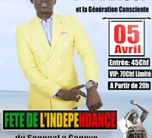 "Indépendance du Sénégal à Genéve, Pape Diouf ""Doumaléne May Dara"" le 05 avril avec Ndiarka Diéré Diery. Regardez"
