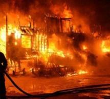 Urgent: un violent incendie s'est déclaré à l'usine de la Sonacos de Diourbel