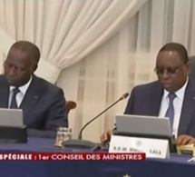 En images, Le premier conseil des ministres du nouveau gouvernement de Macky II