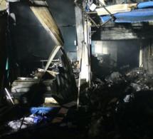 Incendie à Sandaga : Un blessé, une vingtaine de cantines détruites