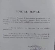 Recrutement massif: Bibi Baldé nettoie La Poste