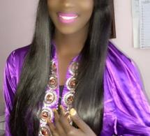 Codou la fille de Fallou Dieng toute rayonnante en tenue traditionnelle