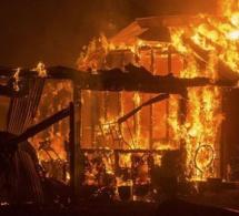 Louga: Un violent incendie réduit en cendres 43 cases