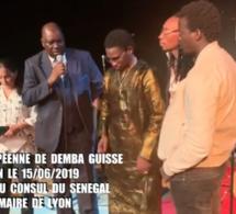TOURNEE EUROPÉENNE DE DEMBA GUISSE A LYON LE 15/06/2019 EN PRESENCE DU CONSUL DU SENEGAL ET DU MAIRE