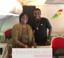 Marième Faye Sall à bord d'un vol régulier d'Air Sénégal à destination de ...