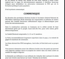 Communiqué du Secrétaire Général National, Me Abdoulaye WADE relatif aux élections locales en perspective