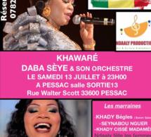 """VIDÉO: Daba Séye chauffe son public en mode """"XAWARÉ"""" à Bordeaux."""