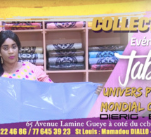 COLLECTION TABASKI: UNIVERS PLUS N°1 EN BAZIN RICHE BIO MARQUE ALLMANDE DIERIG VOUS ATTEND À L'AVENUE LAMINE GUEYE SANDAGA
