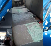 Vidéo Exclusive: la voiture de la gendarmerie de Koumpentoum criblée de balles par les malfrats occasionnant la mort de Commandant de la brigade Tamsir Sané