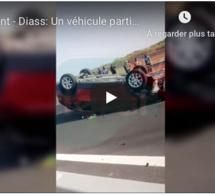 Urgent - Diass: Un véhicule particulier percute une voiture de la gendarmerie et se renverse... (VIDEO)