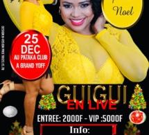 La chanteuse GUI GUI présente Noël ce 24 décembre à Grand Yoff en live