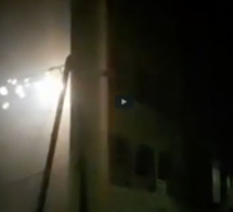 Un poteau électrique prend feu aux HLM Grand Médine