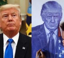 «N'abandonne jamais ton rêve», le président Trump au jeune Nigérian qui a dessiné son portrait