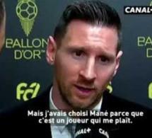 """Vidéo – Messi : """"J'avais choisi Sadio Mané car c'est un joueur qui me plaît."""""""