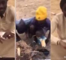 Une vidéo rare qui montre l'humilité de Wally Seck – En pleine forêt à Diourbel : il partage son repas avec des talibés.Regardez