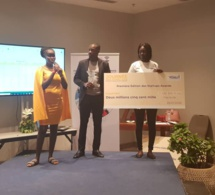 Trois chèques de 5 millions partagés par le 3 vainqueurs de la journée des START-UPS avec la FDSUT.